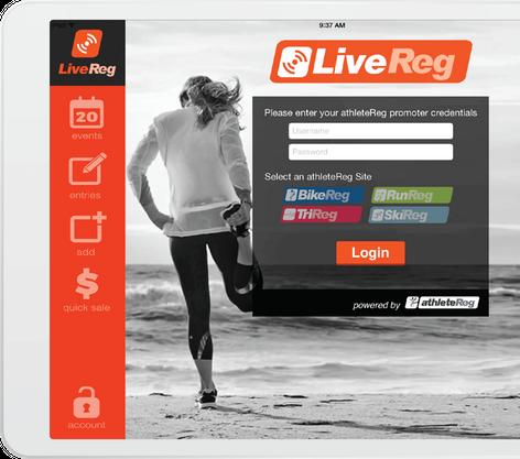 LiveReg on Tablet